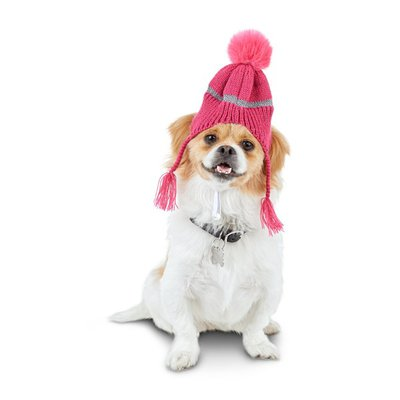 Good2 Go Small or Medium Pink Knit Hat for Pets
