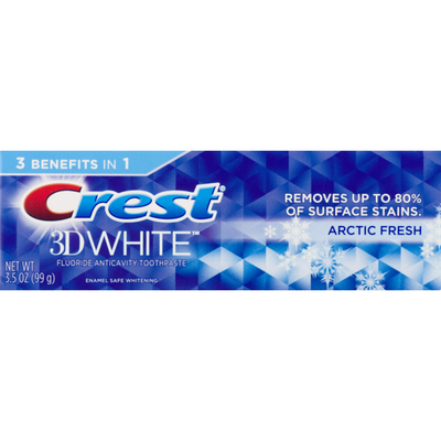 Crest 3D White Arctic Fresh Icy Cool Mint Flavor Whitening Toothpaste, Dentifrice