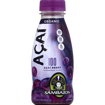 Sambazon Juice, Superfood, Organic, 100 Acai Berry, Acai