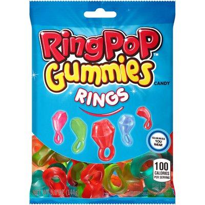 Ring Pop Gummy Rings, Assorted Flavor Gummies Candy, 5 Oz Bag