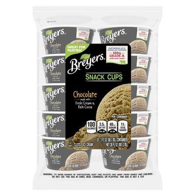 Breyers Ice Cream Chocolate Snack Cups