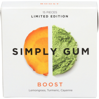 Simply Gum Boost Natural Chewing Gum