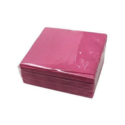 Amscan Bright Pink Disposable 3-Ply Beverage Napkins