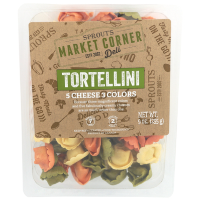 Sprouts 5 Cheese 3 Colors Tortellini