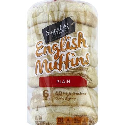 Signature Select English Muffins, Plain