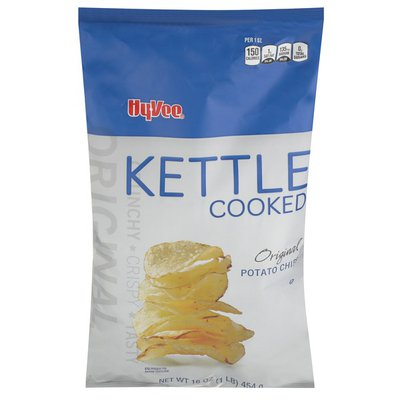 Hy-Vee Kettle Cooked Potato Chips, Original