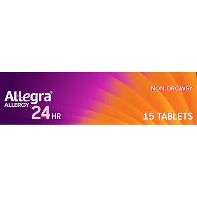 Allegra Allergy Relief, Indoor/Outdoor, Non-Drowsy, 24 Hrs, Tablets