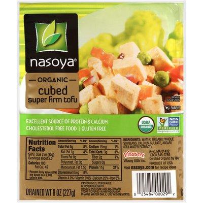 Nasoya Tofu, Super Firm, Organic, Cubed