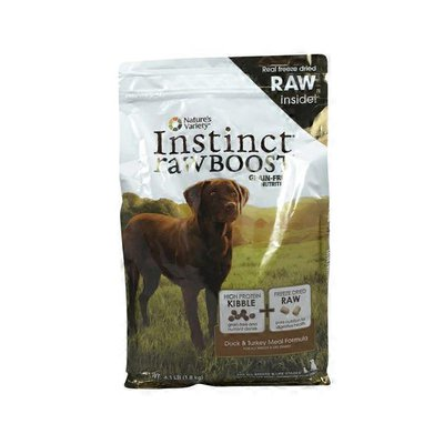 Nature's Variety Instinct Rawboost Grain Free Duck & Turkey Meal Formula for All Breeds & Life Stages Nutrition for Dog