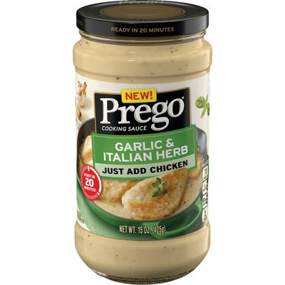 Prego® Cooking Sauces Garlic & Italian Herb Sauce