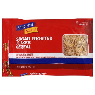 Shoppers Value Cereal, Sugar Frosted Flakes