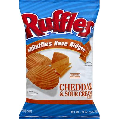 Ruffles Potato Chips, Cheddar & Sour Cream Flavored