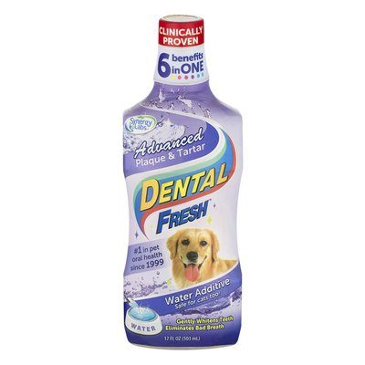 Dental Fresh Water Additive for Dogs & Cats Advanced Plaque & Tartar
