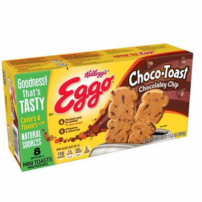 Eggo Choco-Toast Frozen French Toast, Easy Breakfast, Chocolatey Chip