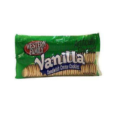 Western Family Vanilla Sandwich Creme Cookies
