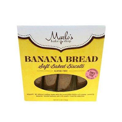 Marlo's Bakeshop Banana Bread Soft Baked Biscotti