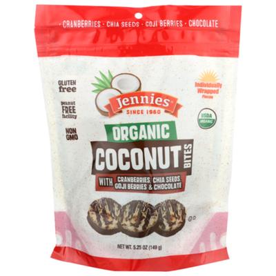 Jennies Organic Coconut Bites With Goji Berries