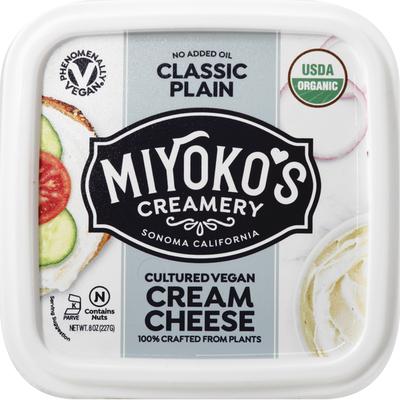 Miyokos Creamery Cream Cheese, Cultured Vegan, Classic Plain