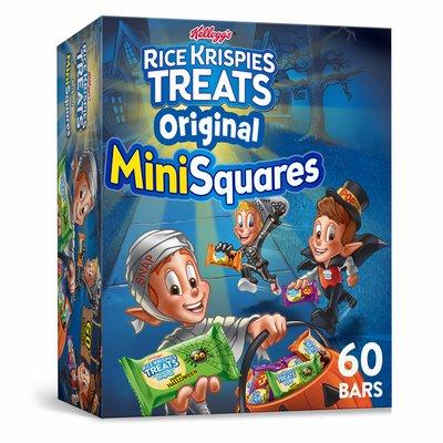 Kellogg's Rice Krispies Treats Mini-Squares Mini Marshmallow Snack Bars, Original, Kids Snacks