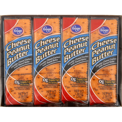 Kroger Crackers, Cheese Peanut Butter