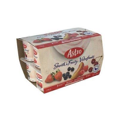 Astro Smooth 'n' Fruity Peach Raspberry, Cherry, Blueberry, Strawberry Yogourt