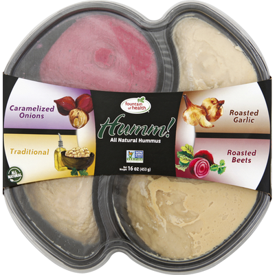 Fountain Of Health Hummus, All Natural, Variety Pack