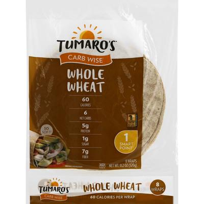 Tumaro's Whole Wheat Carb Wise Wraps