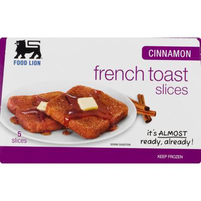 Food Lion French Toast, Cinnamon, Slices, Box