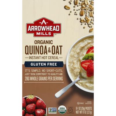 Arrowhead Mills Hot Cereal, Instant, Organic, Quinoa & Oat