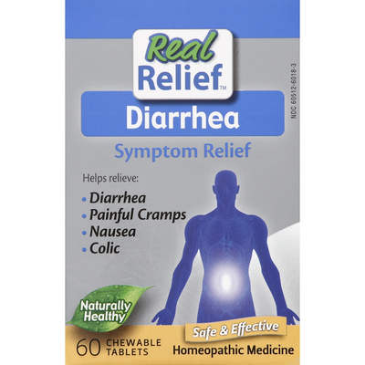 Real Relief Symptom Relief, Diarrhea, Chewable Tablets