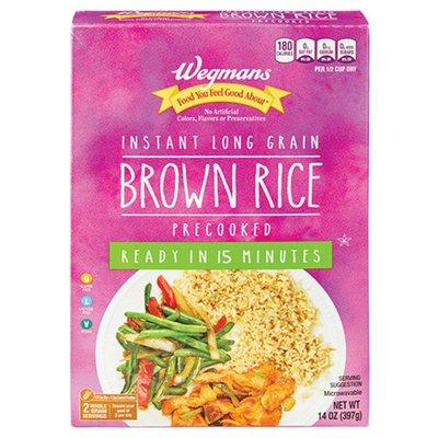 Wegmans Instant Long Grain Brown Rice