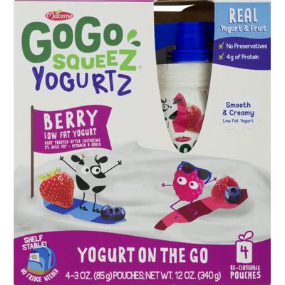 GoGo Squeez Yogurt On The Go Berry