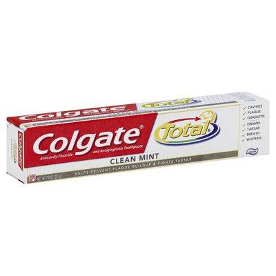 Colgate Total Anticavity Fluoride and Antigingivitis Toothpaste Clean Mint