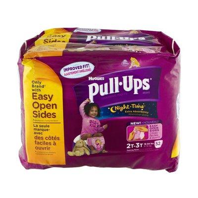 Huggies Pull-Ups Training Pants Night-Time 2T-3T 18-34 Lbs - 52 CT