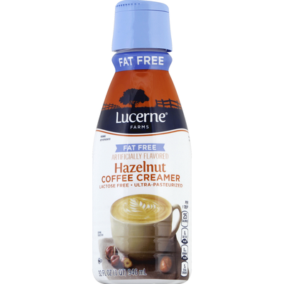 Lucerne Coffee Creamer, Fat Free, Hazelnut