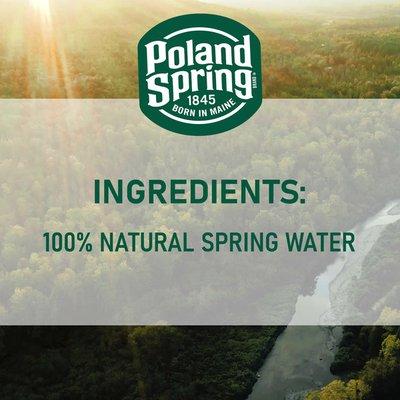 Poland spring 100% Natural Spring Water