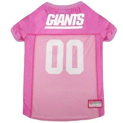 Pets First Medium Pink NFL New York Giants Dog Jersey