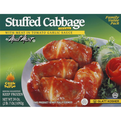 Meal Mar Stuffed Cabbage, with Meat in Tomato Garlic Sauce, Family Value Pack