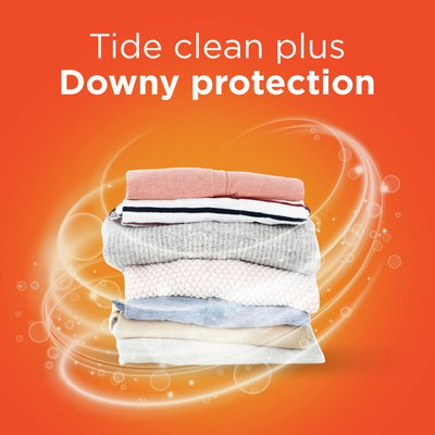 Tide Plus a Touch of Downy High Efficiency Liquid Laundry Detergent April Fresh, 48 Loads