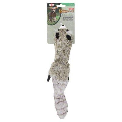 "SPOT 14"" Stuffing Free Mini Skinneeez Plush Raccoon Dog Toy"