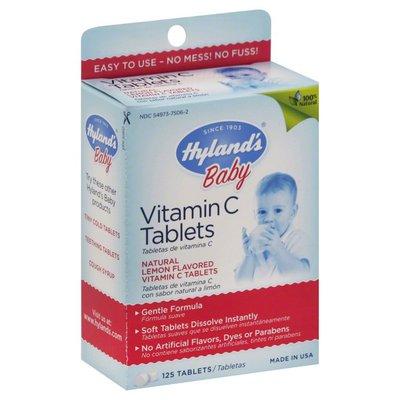 Hyland's Vitamin C, Tablets, Lemon Flavored