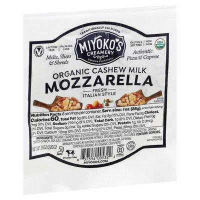 Miyoko's Creamery Cheese, Organic, Mozzarella
