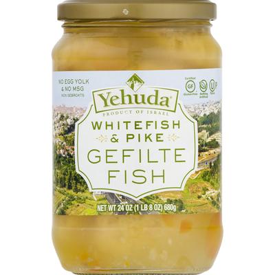 Yehuda Gefilte Fish, Gluten Free, Whitefish & Pike