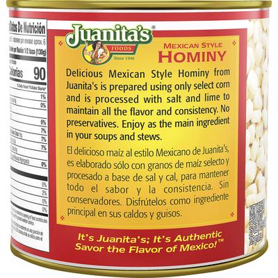 Juanita's Foods Hominy, Mexican Style, Estilo Casero