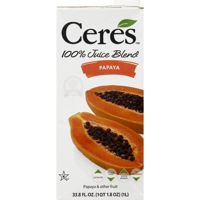 Ceres 100% Juice Blend, Papaya