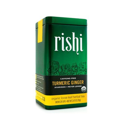 Rishi Tea Organic Caffeine-Free Loose Leaf Turmeric Ginger Herbal Tea