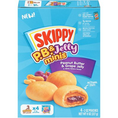 SKIPPY P.B. and Jelly Minis Peanut Butter and Grape Jelly