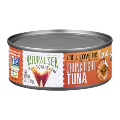 NATURAL SEA Wild Yellowfin Tuna, Unsalted, Chunk Light