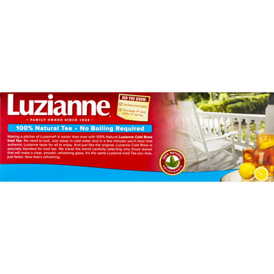 Luzianne Cold Brew Special Blend Iced Tea, Family Size Tea Bags