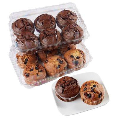 Kirkland Signature Muffins - 6 Blueberry, 6 Double Chocolate